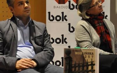 Anna Mieszkowska i Piotr Jaworski - burmistrz Białołęki