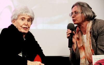 Kaja Mirecka-Ploss i Anna Mieszkowska podczas spotkania w Warszawie, 19 września 2014
