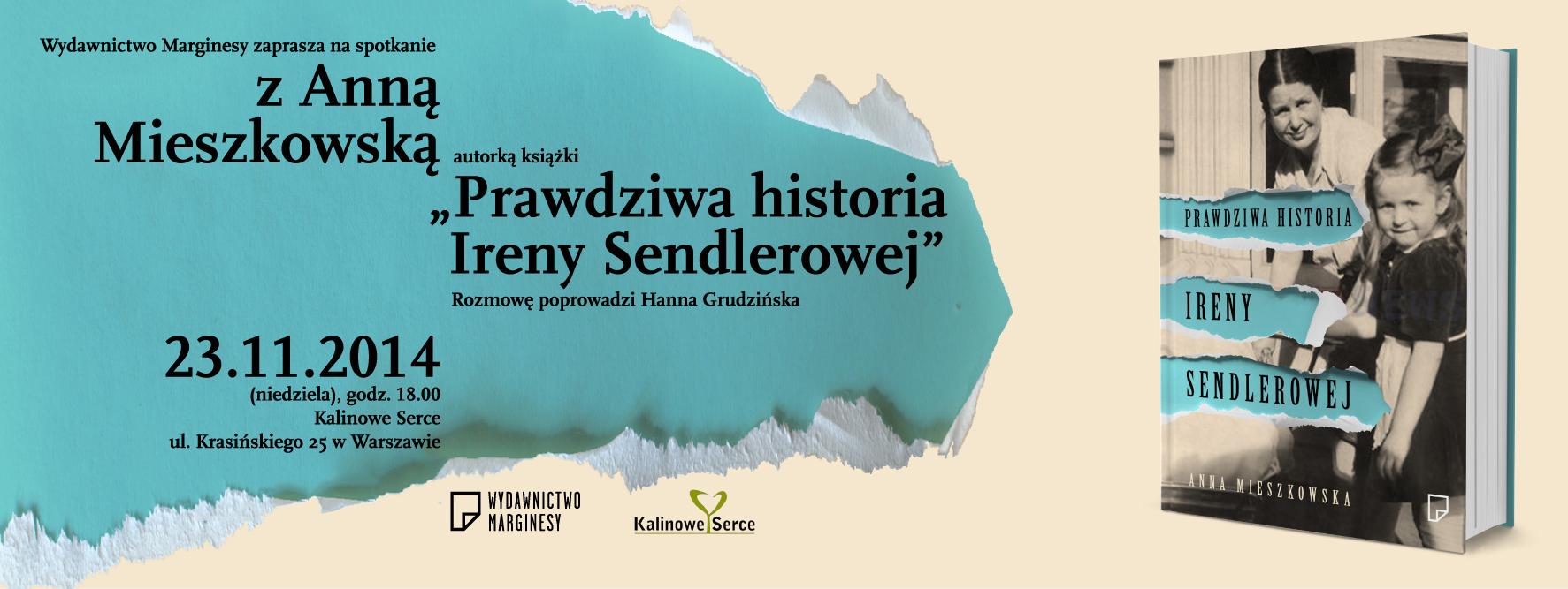 Spotkanie autorskie Prawdziwa Historia Ireny Sendlerowej