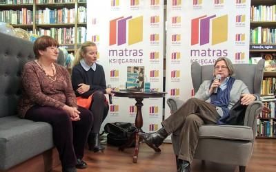 Spotkanie autorskie 20 listopada 2014 r. księgarnia Matras w Warszawie, od lewej: Janina Zgrzembska, Hanna Grudzińska i Anna Mieszkowska